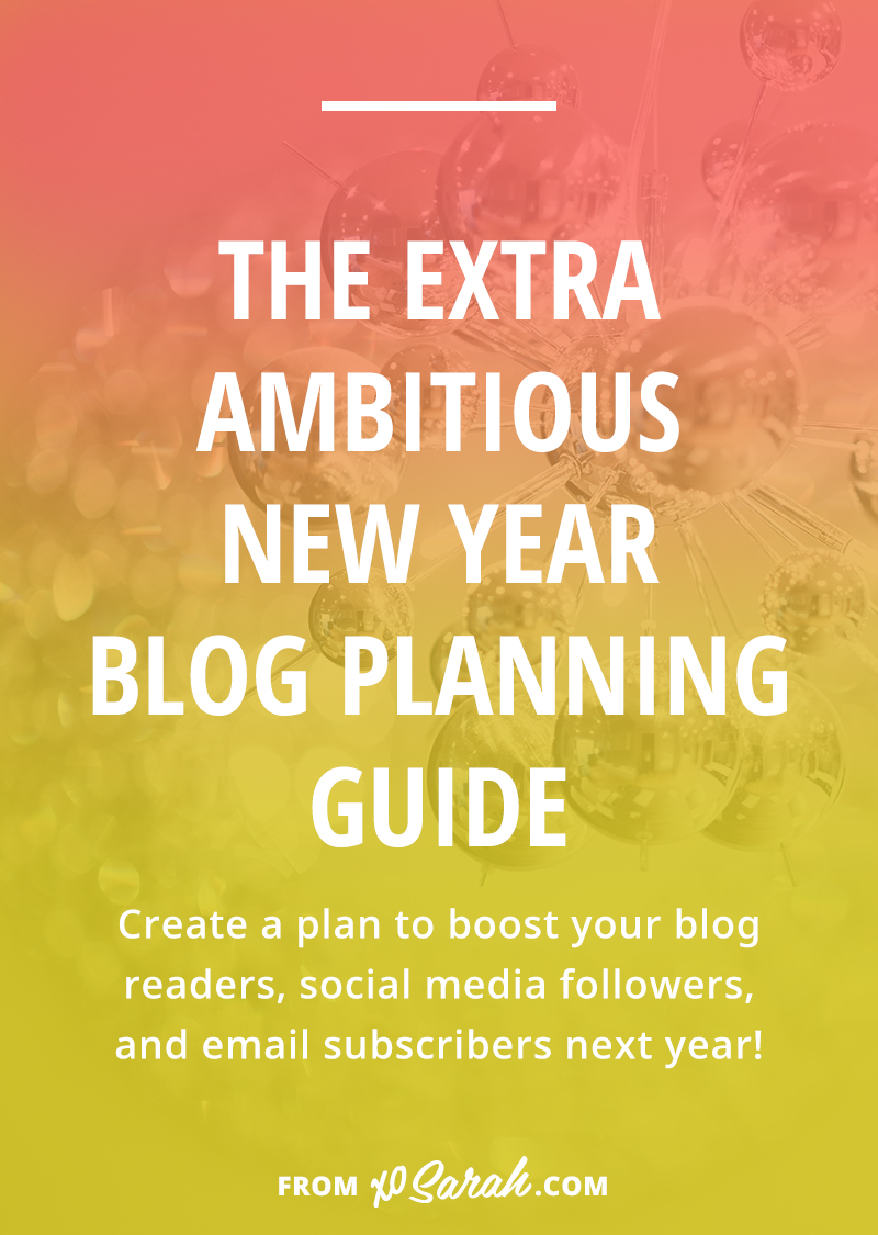 It's the most wonderful time of the year! The time when we splurge on new notebooks, clear off our whiteboards, snuggle up with inspirational podcasts, and create a plan for internet domination in the new year. Click for 9 questions you must ask to create a plan that will really help you grow your blog and business next year.