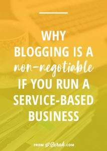 Why blogging is a non-negotiable if you run a service-based business