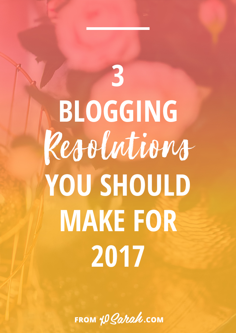 The new year always feels like a time to make changes, ditch habits and strategies that aren't working, and experiment with something new. If you're in the process of growing your blog here are 3 resolutions I highly recommend making (and sticking to) so you can see growth and good blogging things happen all year long.