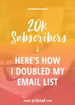 20k subscribers: Here's how I doubled my email list