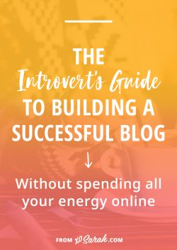 The introvert's guide to building a successful blog without spending all your energy online