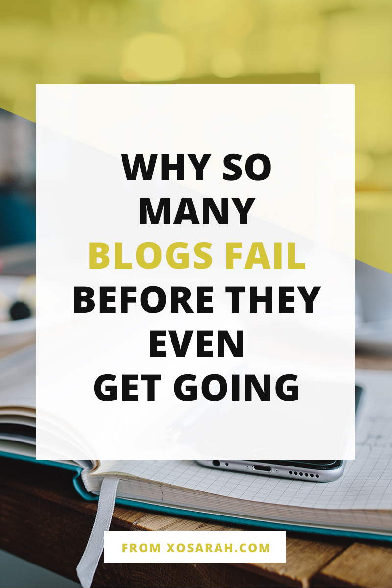 Here are 4 things that lead new bloggers straight toward a big blog fail so that you can avoid those blogging mistakes, grow your blog, AND keep it going strong for a long time. #blogging #blogtraffic #beginnerblogger #freelance