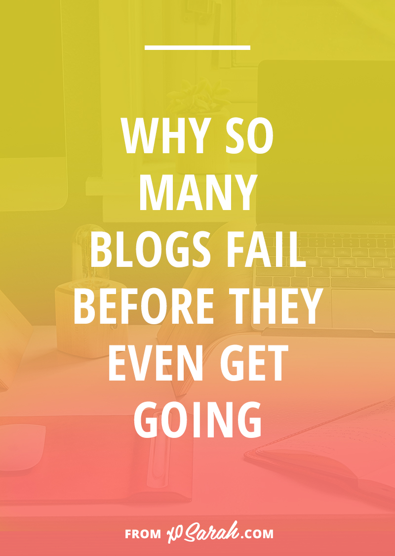 Why so many blogs fail before they even get going