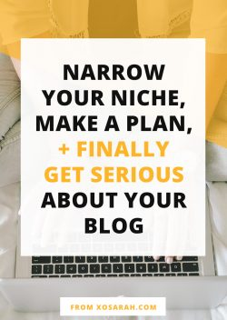 How to narrow your niche, stick to a plan, grow your Instagram, and FINALLY get serious about your blog.