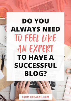 Do you always need to feel like an expert?