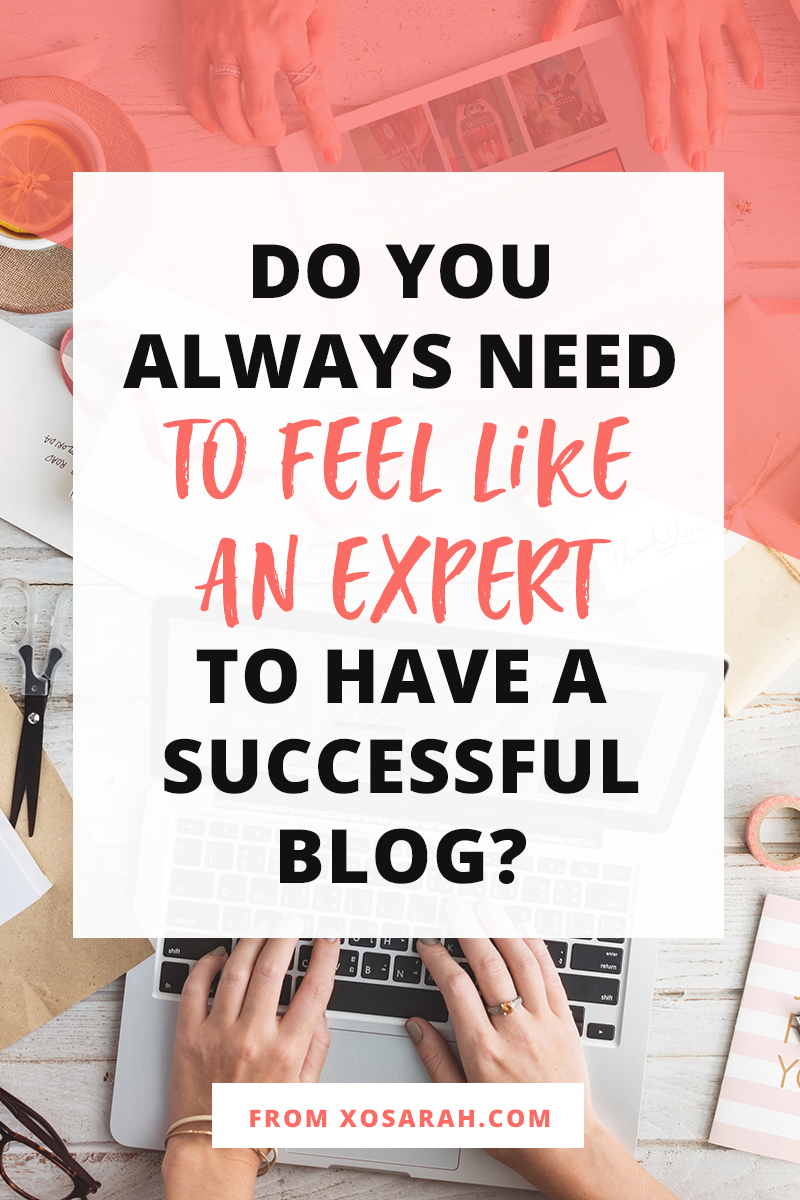 Attention beginner bloggers: Do you always need to feel like an expert in order to grow your blog traffic, gain social media followers, and boost your business? The short answer is NOPE! Here's why . . .