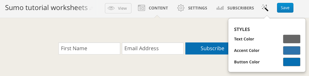 How to create content upgrades and grow your email list using sumo if you want to change the button color within the email to match your branding you can do this in the convertkit content screen malvernweather Choice Image