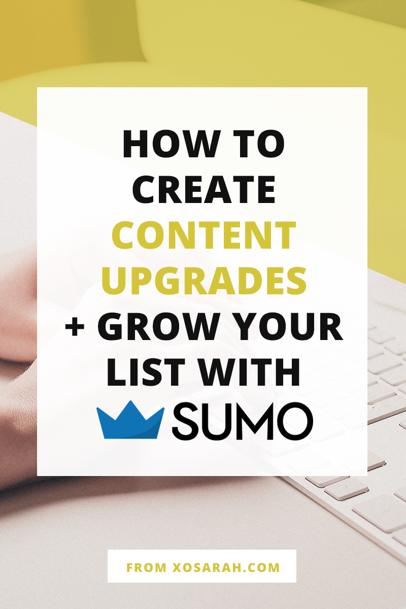 Ready to add new subscribers to your email list every day? Here's how to create content upgrades and deliver freebies to your blog readers using Sumo.