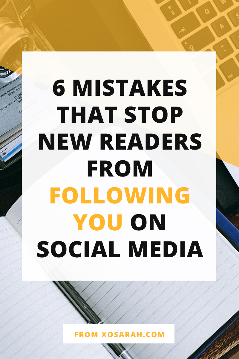 To get more readers connecting with you outside of your blog, here are 6 things to double check to make sure you aren't creating a roadblock that keeps people from following you on social media.