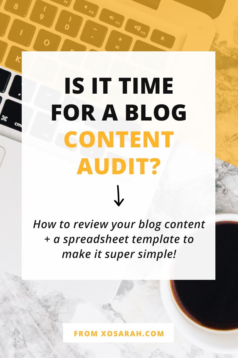 Hey blogger - when is the last time you reviewed all the blog posts you've published and made sure they're moving YOU and your blog readers in the right direction. Here's how to audit your blog content + a handy spreadsheet template to help!